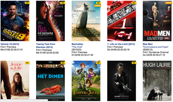 Filmaanbod Film1 september 2014