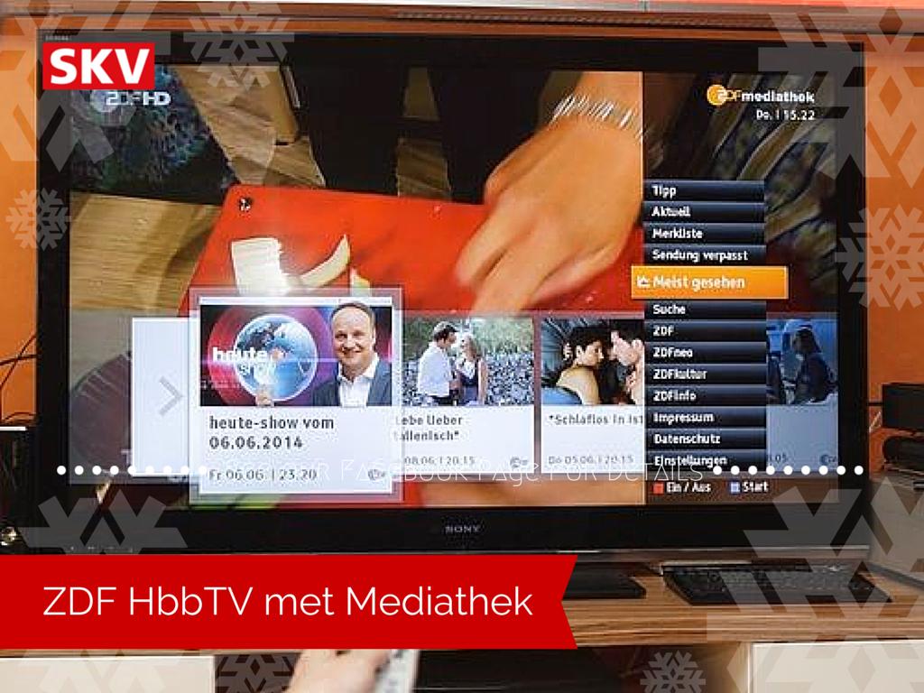 Meer zenders met HbbTV bij SKV. Nu ook ZDF, 3sat, Sat1 en ProSieben