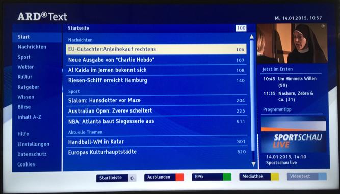 Opnieuw uitbreiding HbbTV bij SKV. Nu al 17 zenders