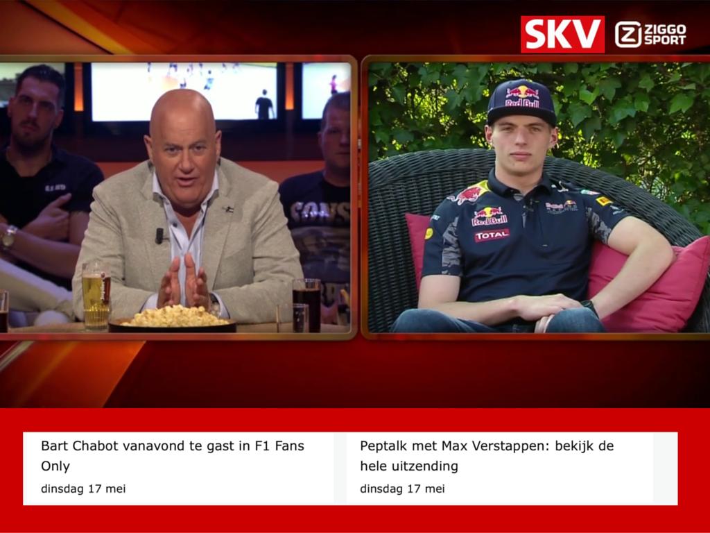 Max Verstappen via SKV volgen op Ziggo Sport Totaal