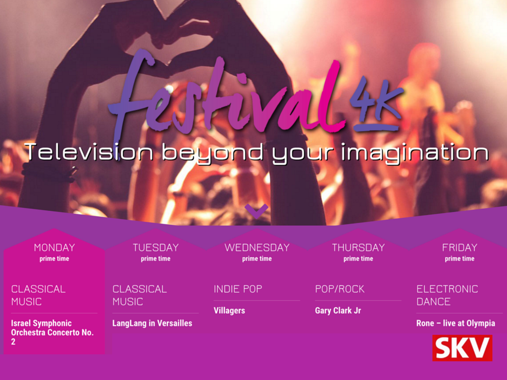 SKV eerste Nederlandse provider met Ultra HD tv-zender Festival 4K
