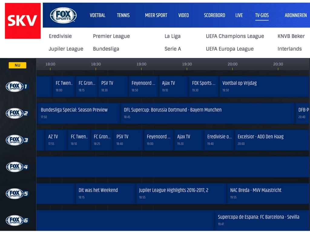 Forse prijsverlaging van FOX Sports bij SKV. Zeer concurrerende aanbieding