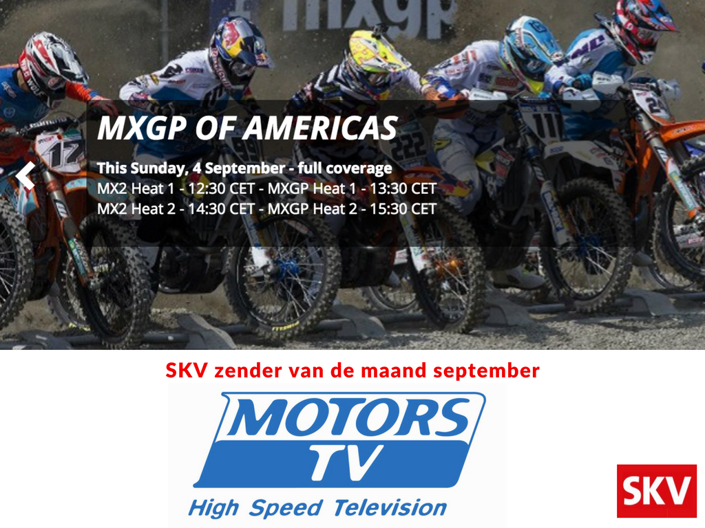 Motors TV zender van de maand september bij SKV. Alsof je langs het circuit zit