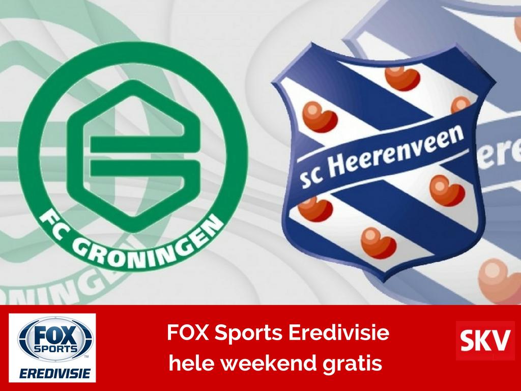 FC Groningen – SC Heerenveen gratis live via FOX Sports Eredivisie bij SKV