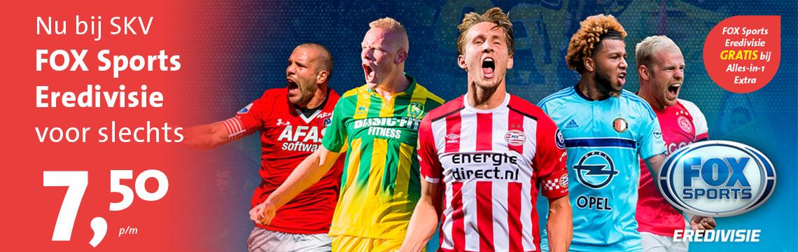 Neem nu FOX Sports Eredivisie voor € 7,50 bij SKV