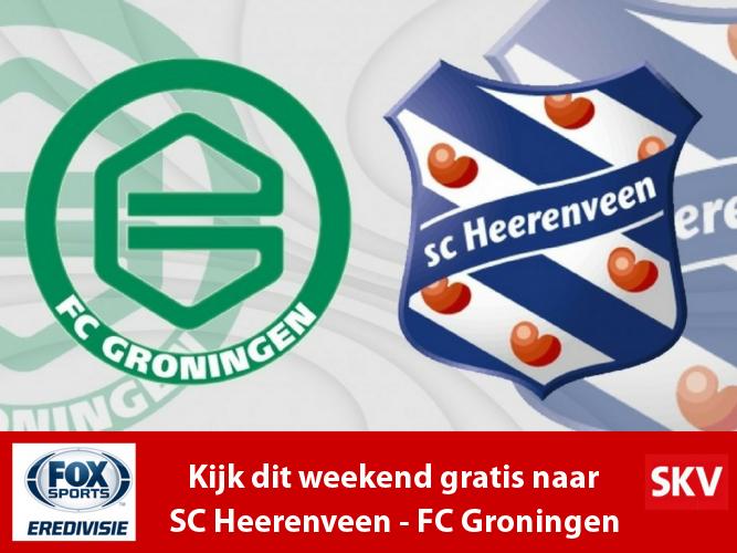 SC Heerenveen – FC Groningen gratis live via FOX Sports Eredivisie bij SKV
