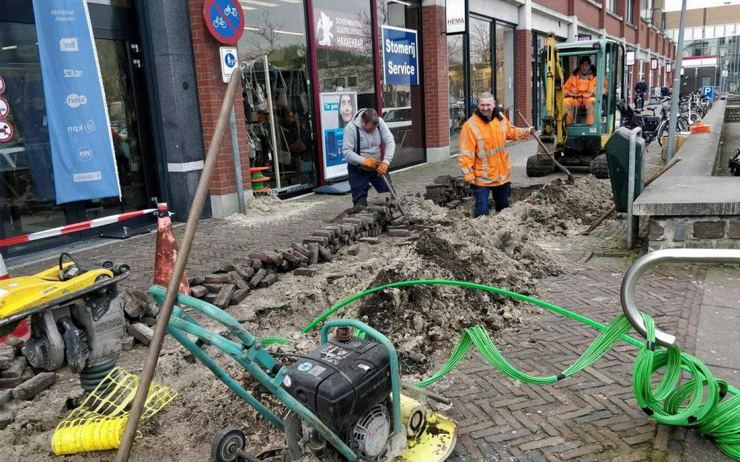 SKV en VIB Netwerken zijn bijna klaar met aanleg van glasvezelnetwerk in Veendam