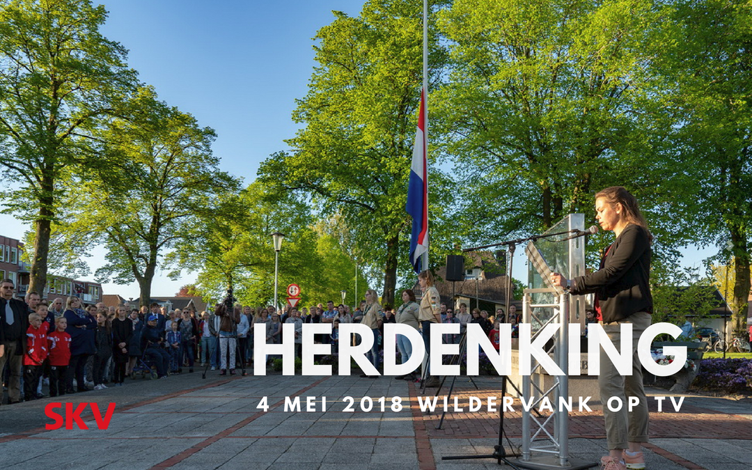 Dodenherdenking Wildervank live op TV via SKV