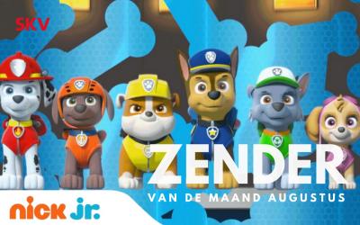 Kinderzender Nick Jr. gratis SKV Zender van de Maand augustus 2018