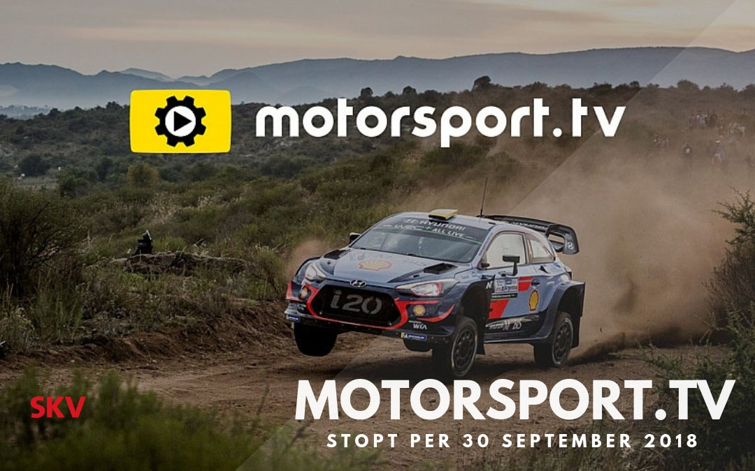 Motorsport.TV stopt per 30 september 2018