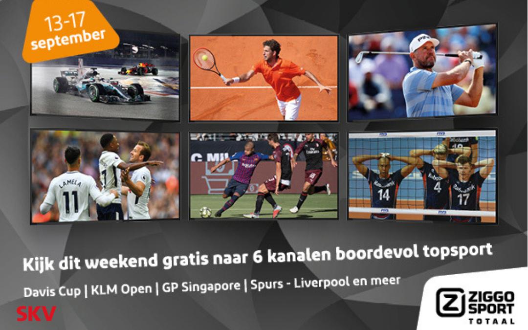 Tijdelijk gratis Ziggo Sport Totaal bij SKV