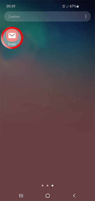Android Mobiel Mail instellen SKV - Stap 1