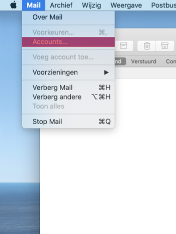 Mail instellen Apple Mail SKV stap 2