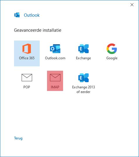 SKV mail instellen microsoft office 365 stap 4