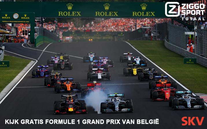 Formule 1 Grand Prix van België  – gratis bij SKV van 28 – 30 augustus